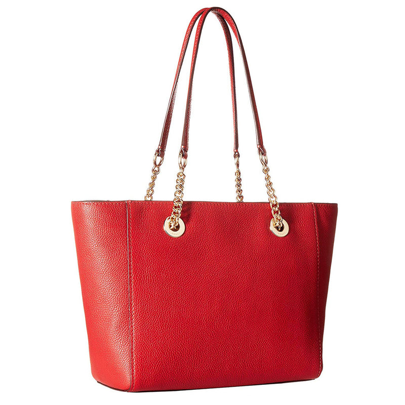 Coach - 57107 - Turnlock Chain Tote 27 in Red Leather Shopping Bag