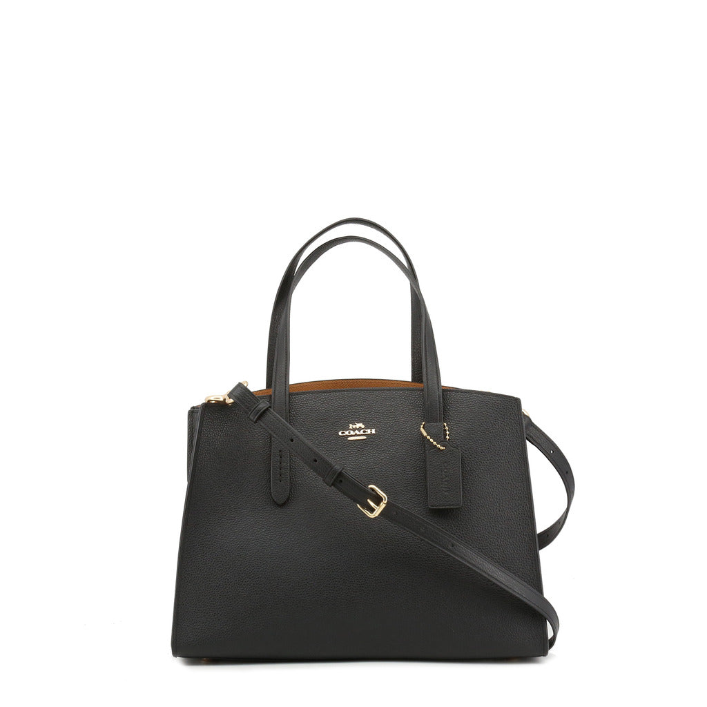 Coach - 29529 - Charlie Carryall 28 Black Leather Crossbody Bag