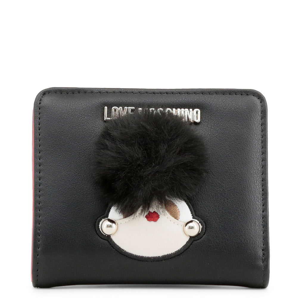 Love Moschino - Wallet - Black with Girly Pom Pom