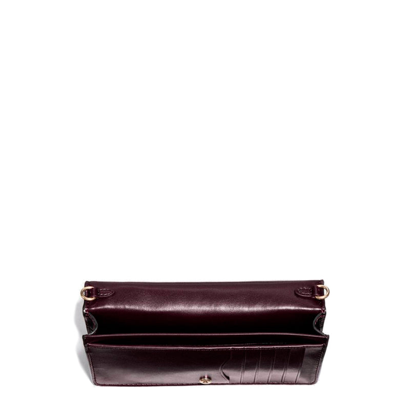 Coach - 31858 - Croc Embossed Foldover in Violet Leather Crossbody Clutch Bag
