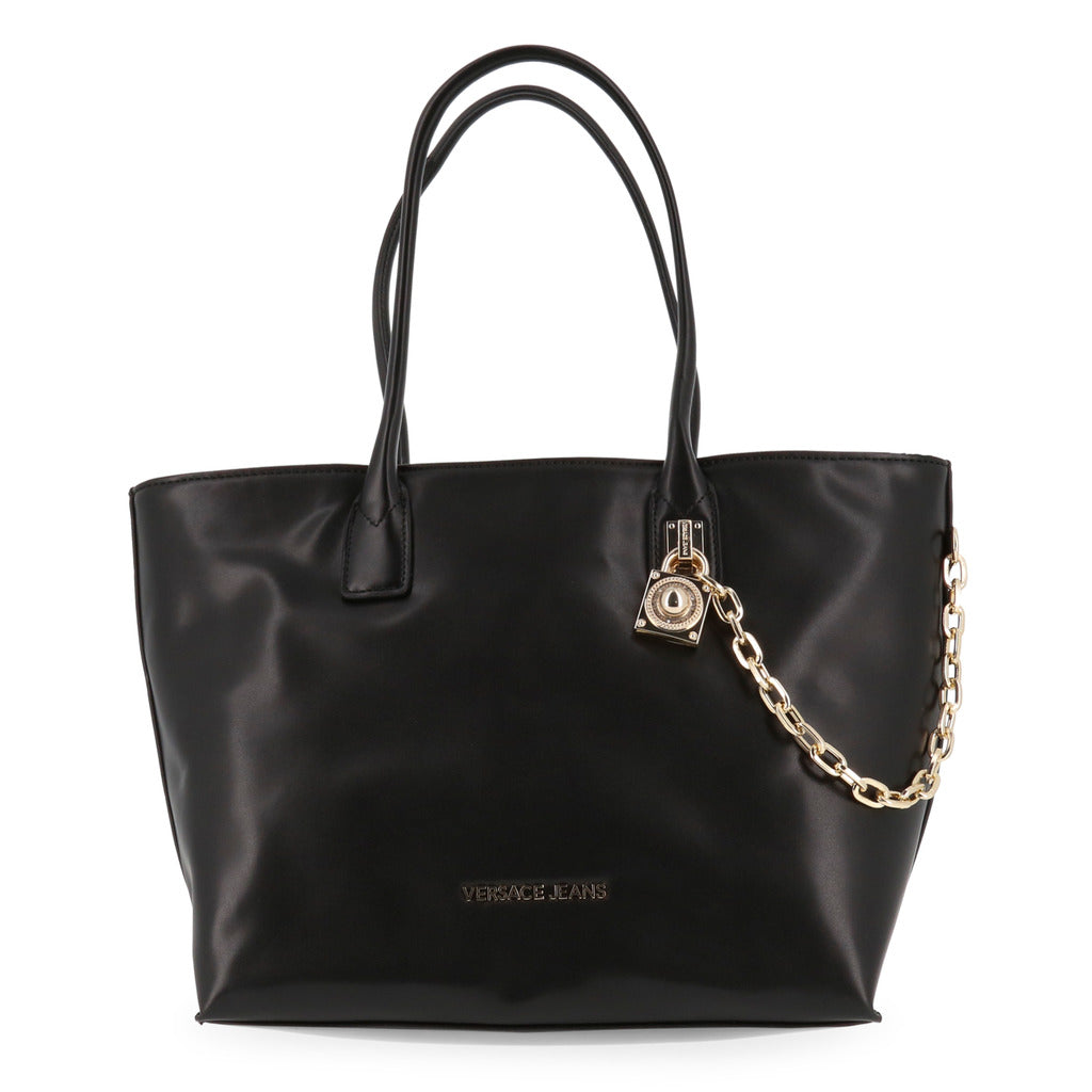 Versace Jeans - Shopping bag - Black with Lock and Chain