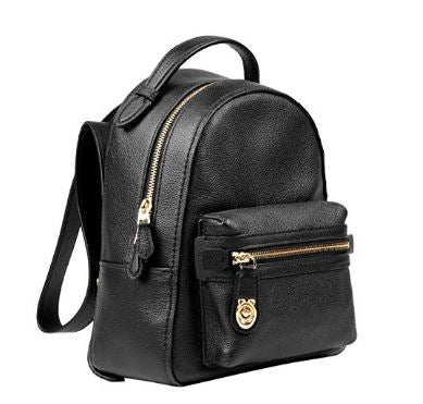 Coach - 31629 - Campus 23 Pebbled Black Leather Backpack