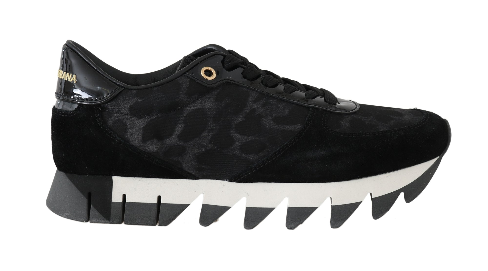 Leather Black Leopard Sneakers