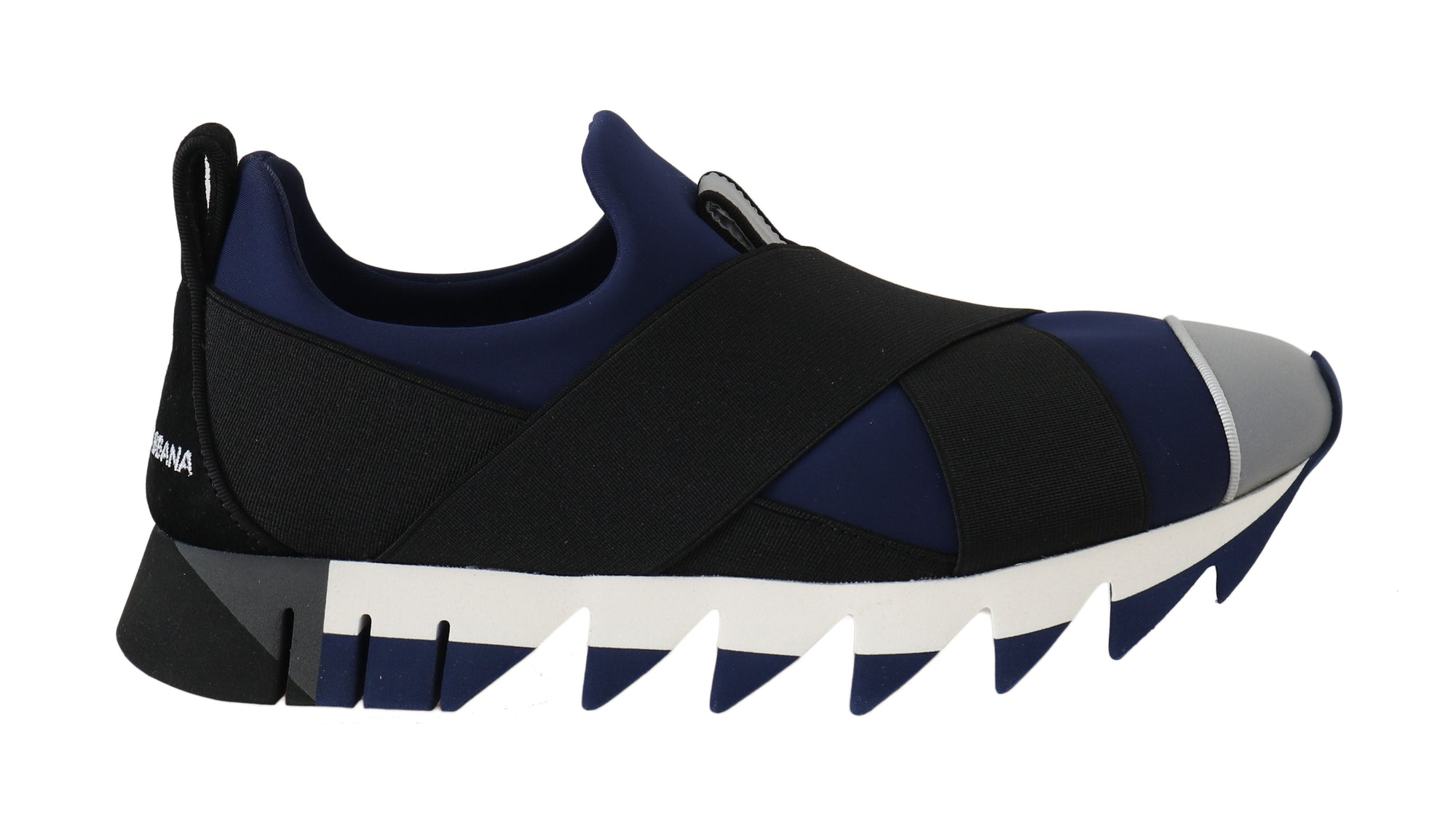 Neoprene Black Blue Strap Sneakers