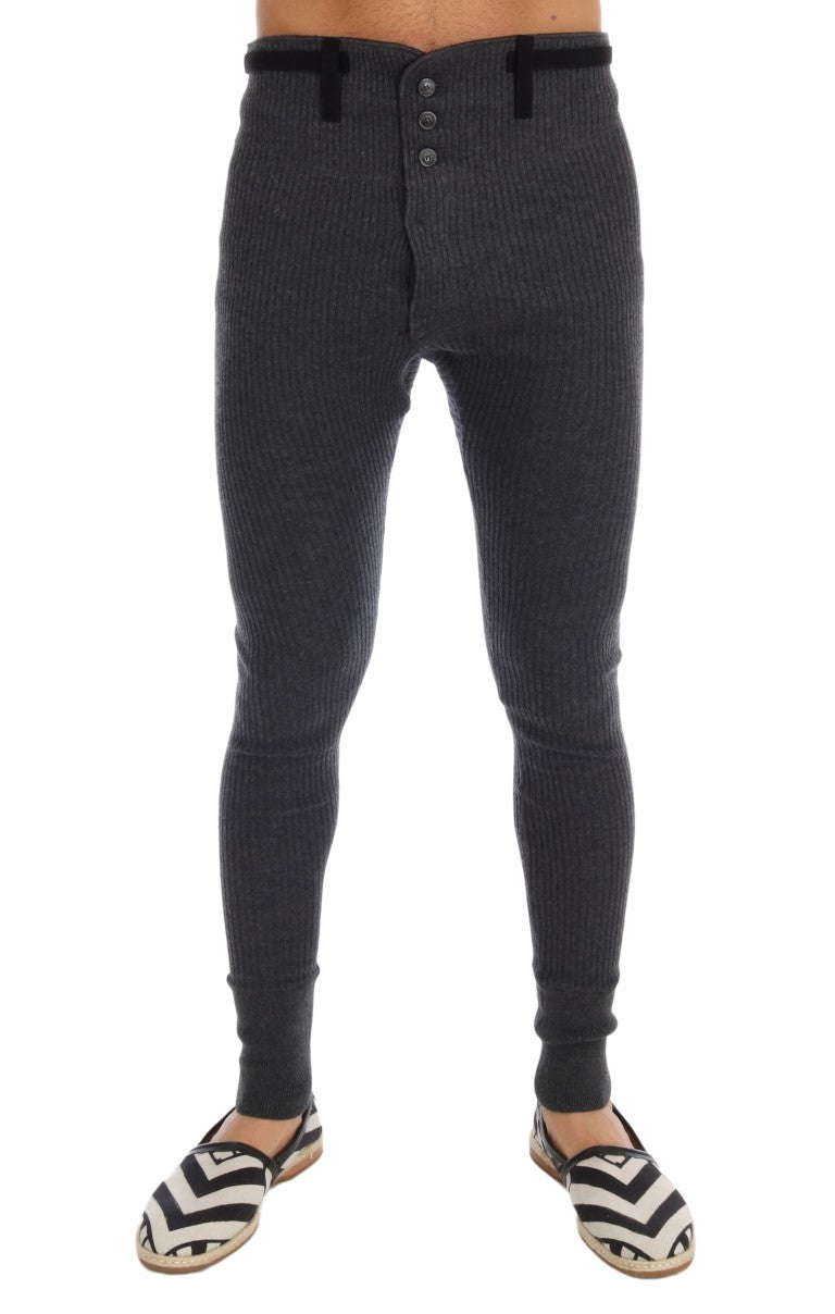Dolce & Gabbana - Gray 100% Cashmere Winter Underwear Pants