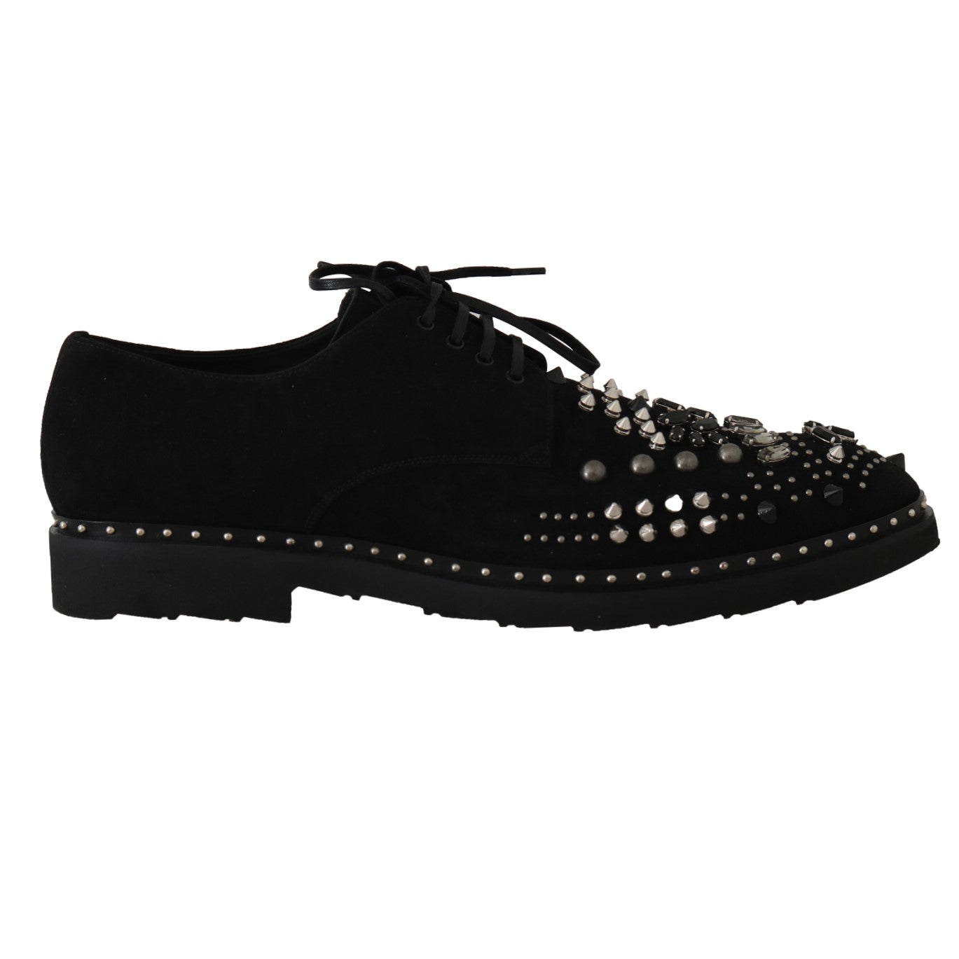 Black Shoes Crystal Studded Derby