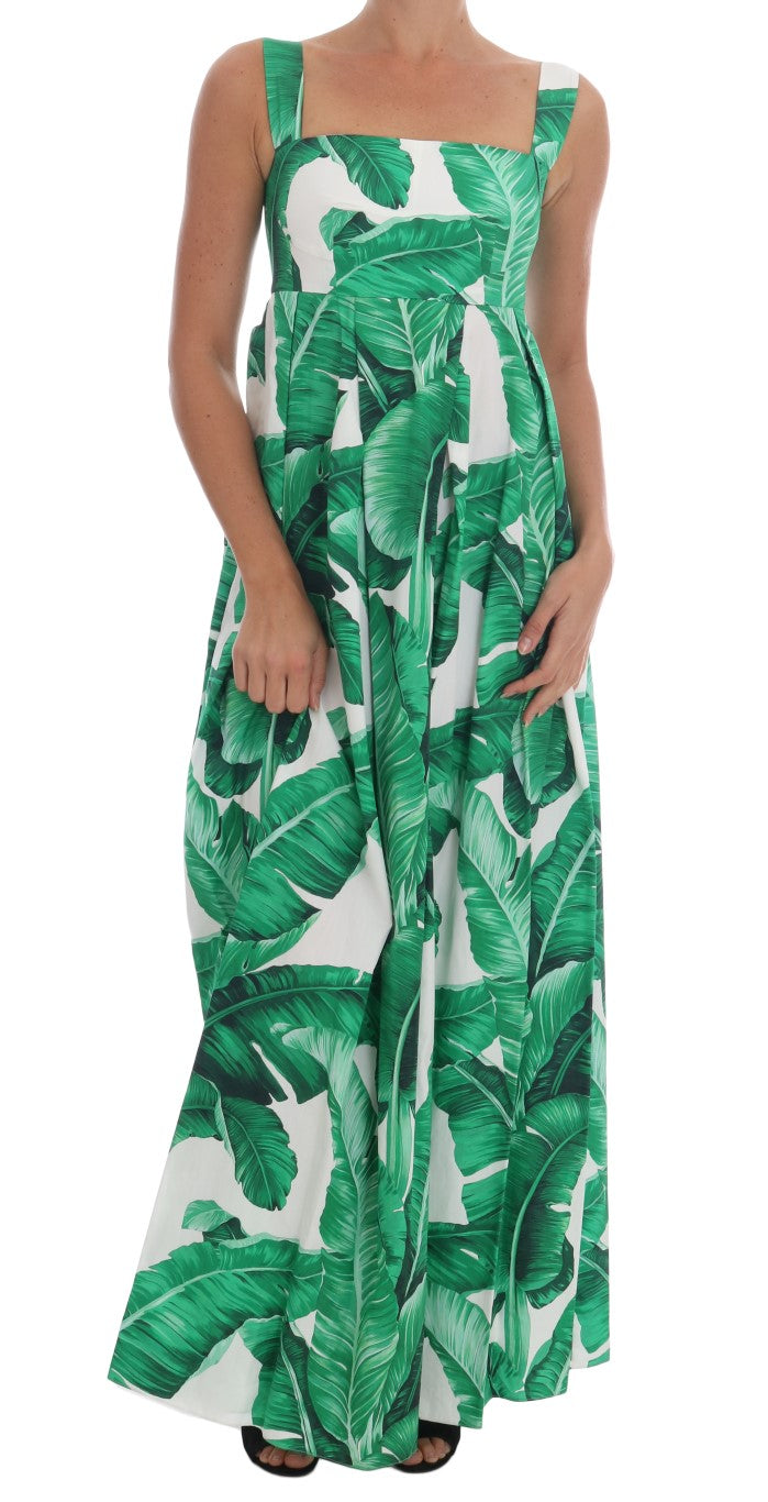 Banana Leaf Cotton Long Dress