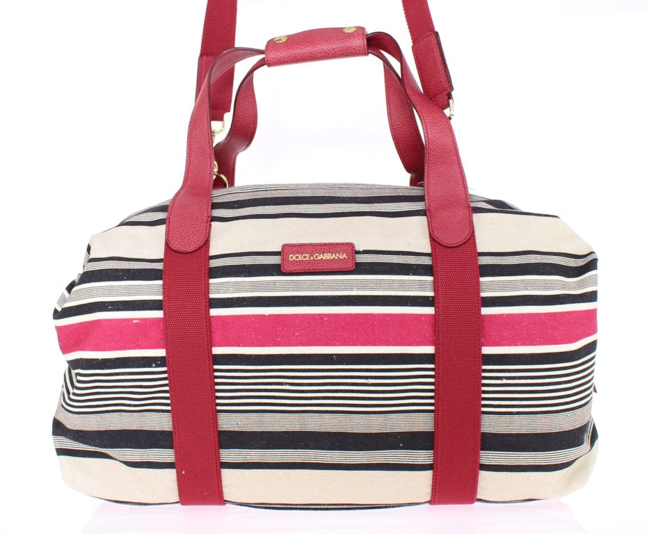 Dolce & Gabbana - Multicolor striped boston bag
