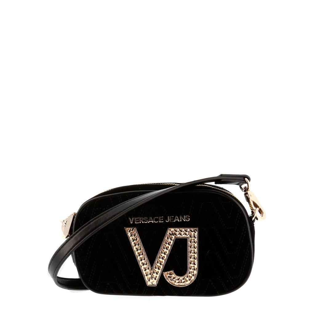 52265584a6f8 Versace Jeans - Crossbody bag - Black Embroidered with VJ Gold Logo ...