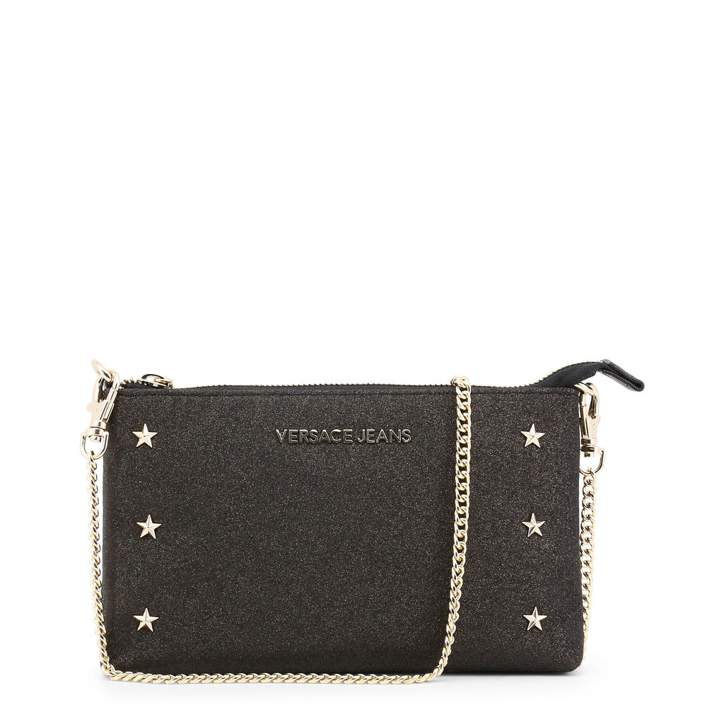 Versace Jeans - Clutch bag - Black Star Studded with Removable Chain Strap