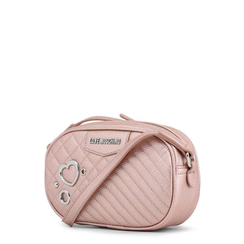 Love Moschino - Crossbody Bag - Pink with Heart Logo