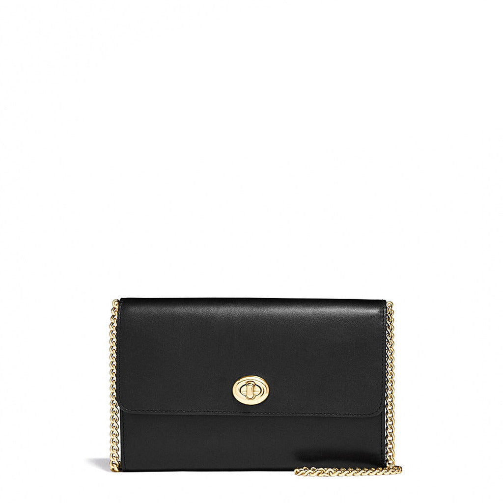 Coach - 38966 - Marlow Black Turnlock Chain Crossbody Bag