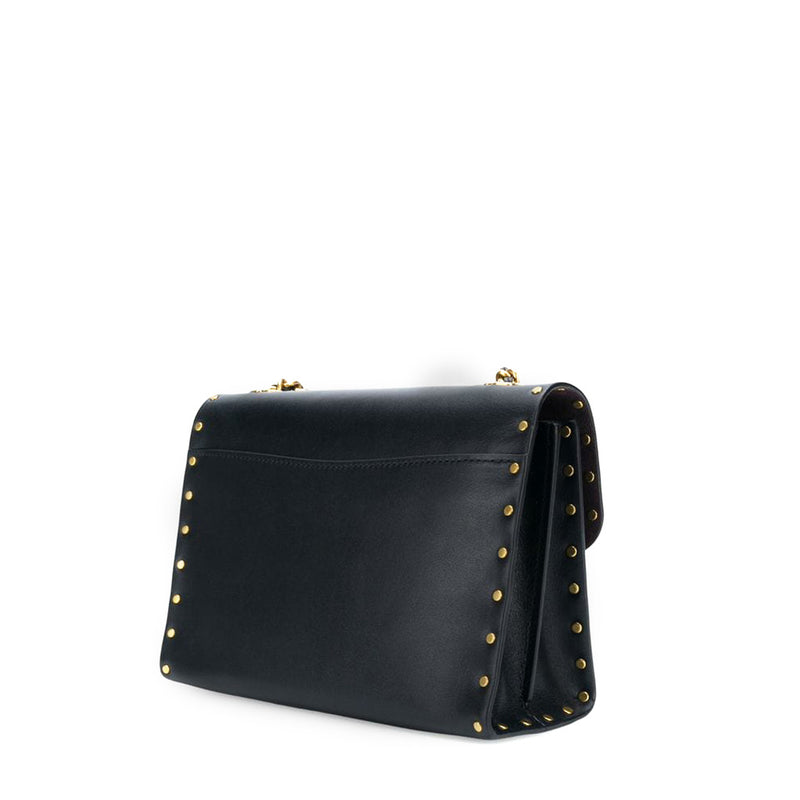 Coach - 29389 - Parker Leather Black with Rivets Crossbody Bag