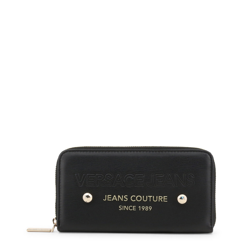 Versace Jeans - Wallet - Black with Jeans Couture Since 1989 Logo