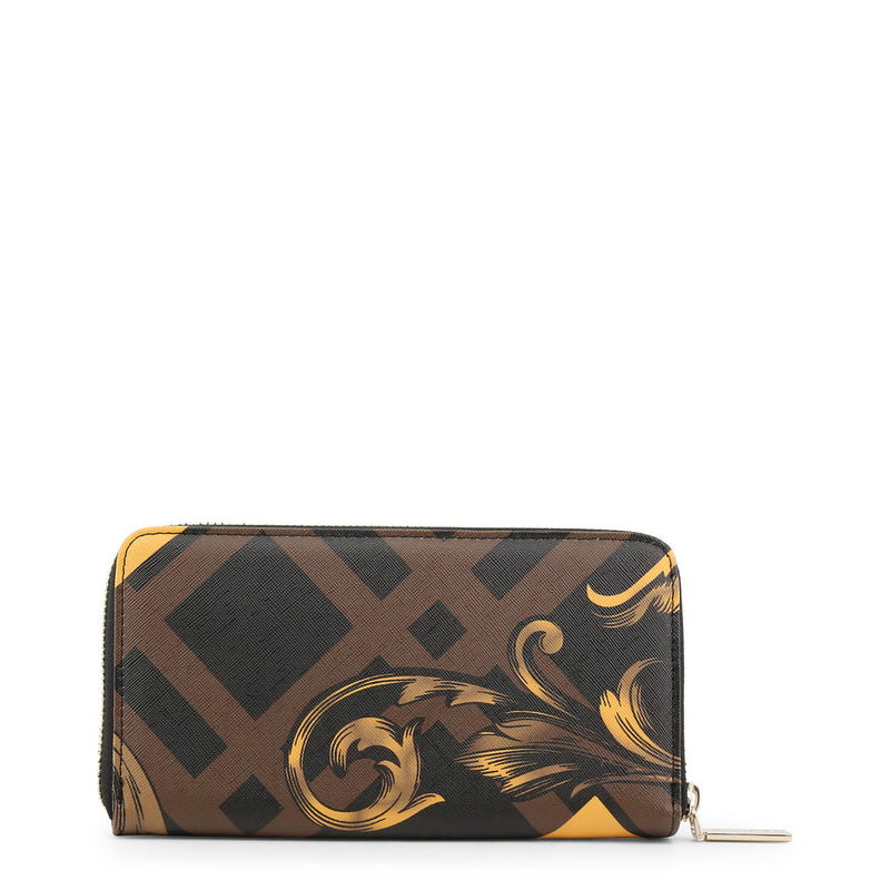 Versace Jeans - Wallet - Black with Brown and Gold Stripes