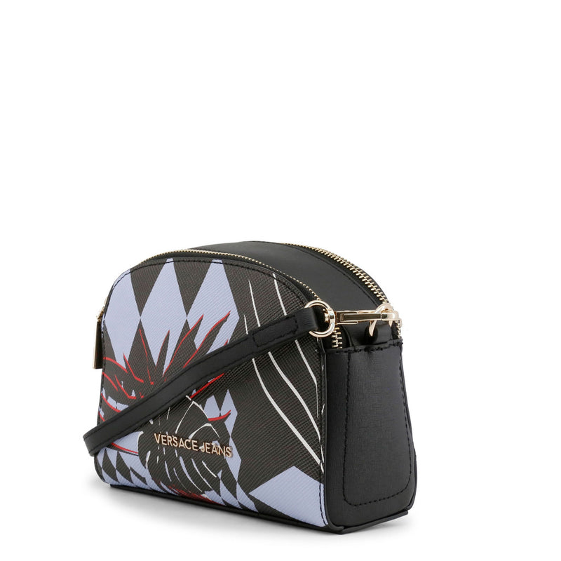Versace Jeans - Crossbody bag - Black with Diamond and Leaf Pattern