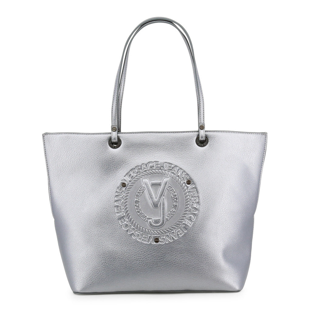Versace Jeans - Shopping bag - Silver with Circle Embossed Logo