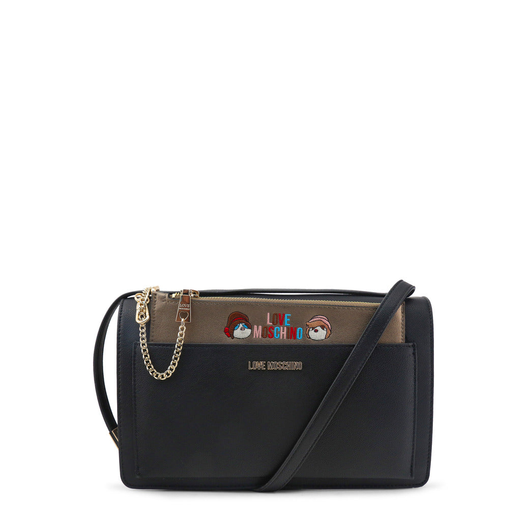 Love Moschino - Crossbody Bag - Black with Removable Pouch