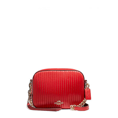 Coach - 31014 - Jasper Quilted Red Leather Camera Crossbody Bag