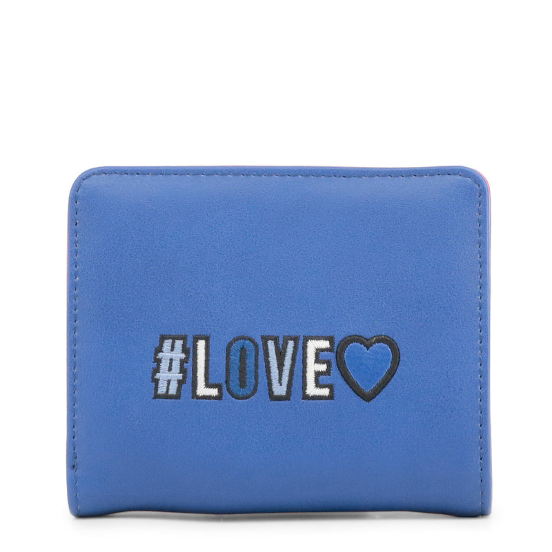 Love Moschino - Wallet - Blue with Girly Pom Pom