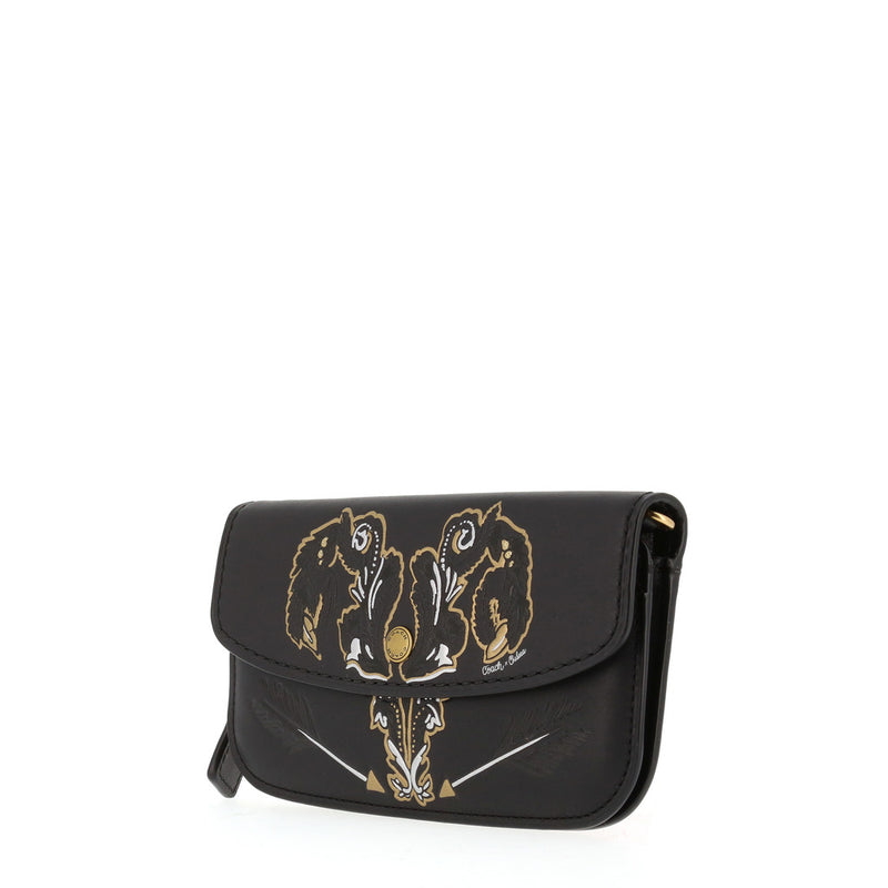 Coach - 37370 - Clutch With Tattoo in Black Leather