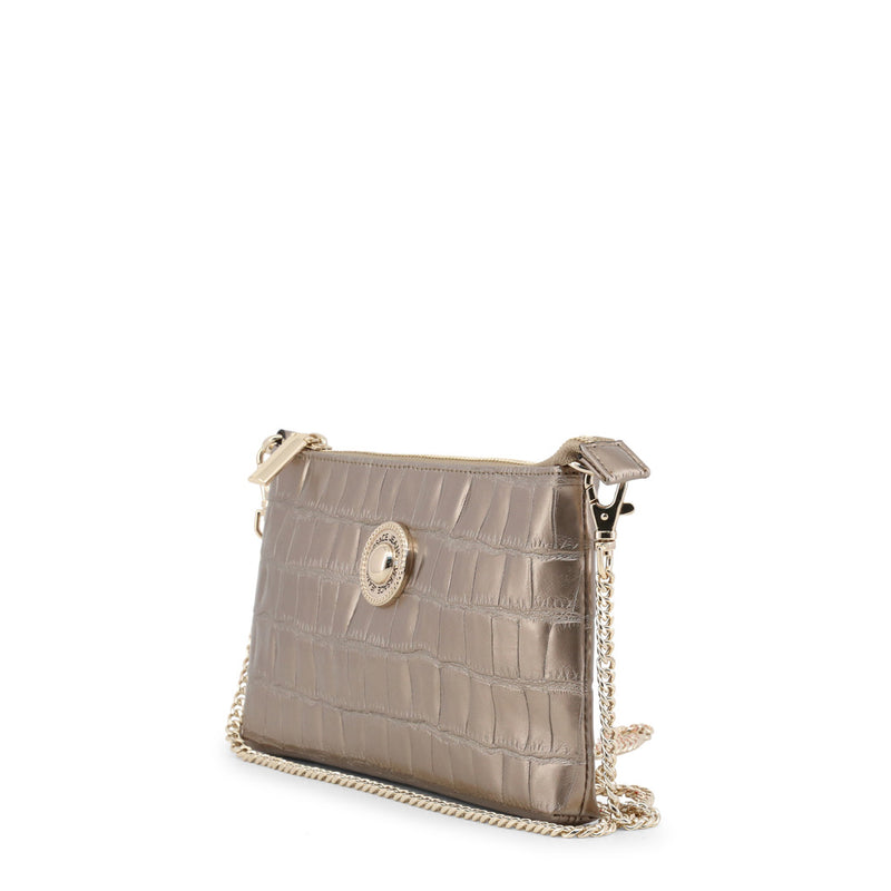 Versace Jeans - Clutch bag - Gold Crocodile Effect with Removable Chain Strap
