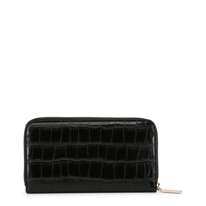 Versace Jeans - Wallet - Black Crocodile Leather Effect