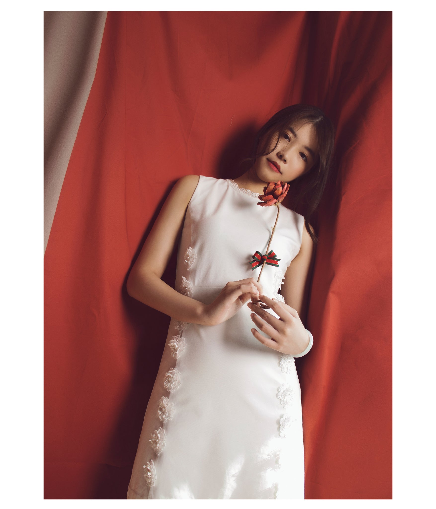White lace flower one piece dress lily fran official white lace flower one piece dress mightylinksfo