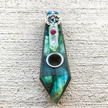 "Load image into Gallery viewer, ""Labradorite Galaxies"" Pipe 