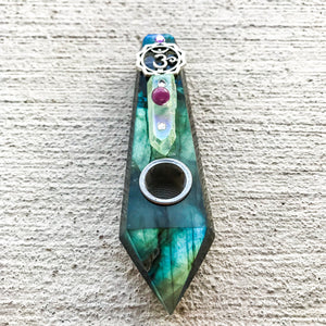 """Labradorite Galaxies"" Pipe 