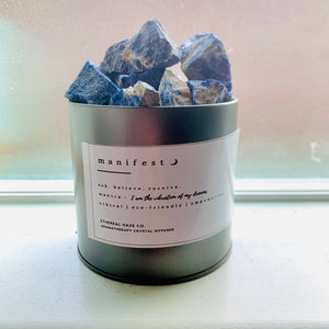 """MANIFEST"" Sodalite Aromatherapy Diffuser - EtherealHaze.com"