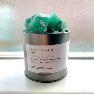 """MANIFEST"" Green Aventurine Aromatherapy Diffuser - Ethereal Haze"