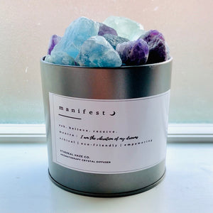 """MANIFEST"" Rainbow Fluorite Aromatherapy Diffuser - EtherealHaze.com"