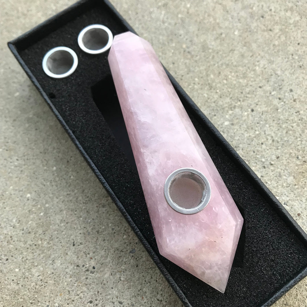 Rose Quartz Pipe - Ethereal Haze