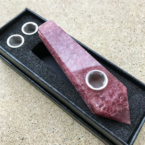 Strawberry Quartz Pipe - EtherealHaze.com