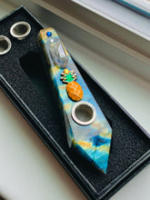 "Load image into Gallery viewer, ""Pineapple & Moon"" Crystal Pipes Set 