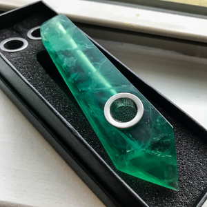 Green Fluorite Pipe - EtherealHaze.com