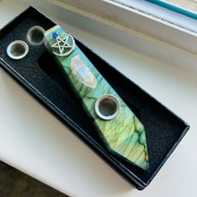 "Load image into Gallery viewer, ""Sailor Earth""  Labradorite Pipe 