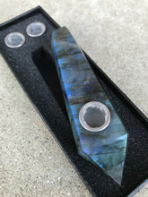 Load image into Gallery viewer, Labradorite Pipe - EtherealHaze.com