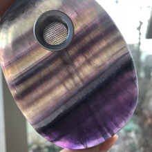 Load image into Gallery viewer, Purple Fluorite Oval Pipe - EtherealHaze.com