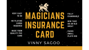 Magicians Insurance Card by Vinny Sagoo