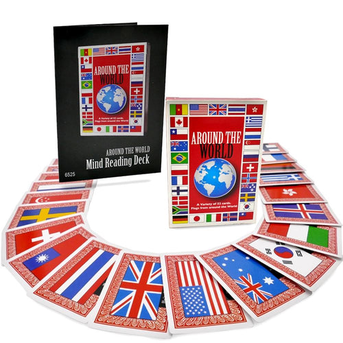 Around The World Mind Reading Magic Deck by Magic Makers