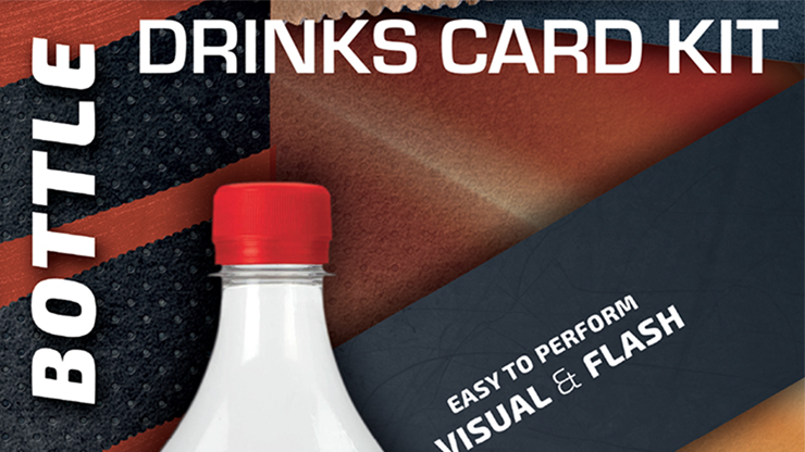 Astonishing Bottle Drink Card KIT (Gimmick and Online Instructions) by João Miranda and Ramon Amaral