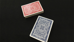 Blue Ribbon Playing Cards (Red)-with Magnetic Card option (2 cards)
