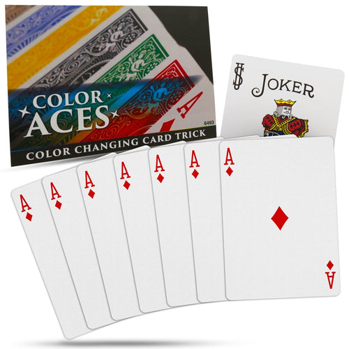Magic Color Aces Card Trick - Special Bicycle Cards Included
