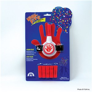 HIGH FIVE CONFETTI LAUNCHER (REFILLS 15 )