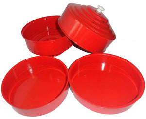 Dove Pan, Double Load, Red - Aluminum