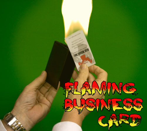 Flaming Business Card from Wallet -Leather Craft