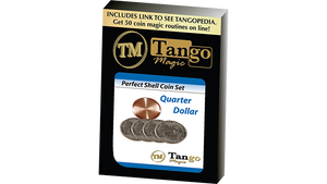 Perfect Shell Coin Set Quarter Dollar (Shell and 4 Coins D0200) by Tango Magic