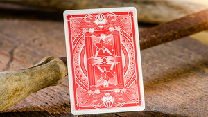 Pinocchio Vermilion Playing Cards (Red) by Elettra Deganello
